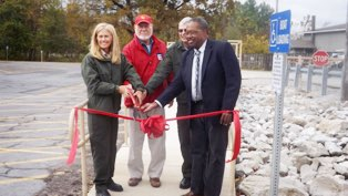 Dedication of the handicapped boater loading ramp at West Access on Carlyle Lake.