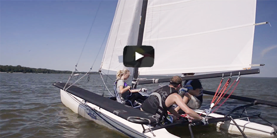 adult sailing school 2015 student video