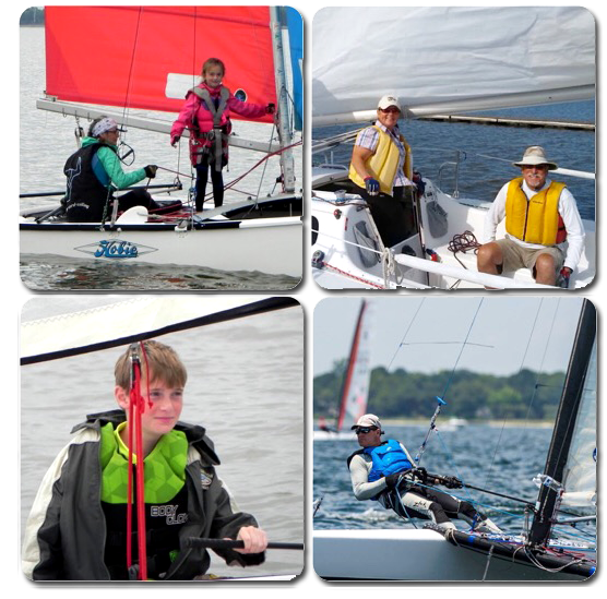 Try sailing with our sailors at carlyle sailing association